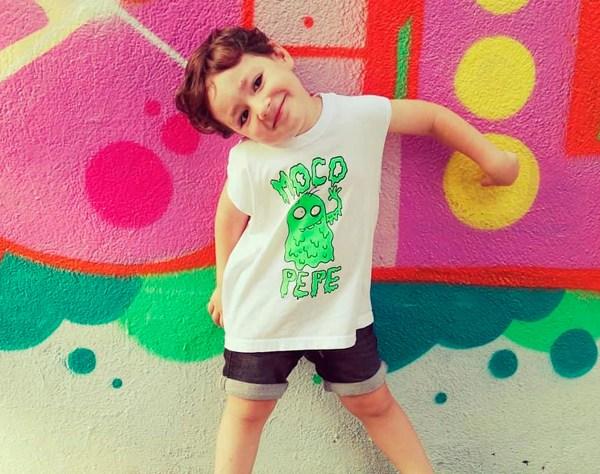 Muestra de la camiseta infantil de Moco Pepe