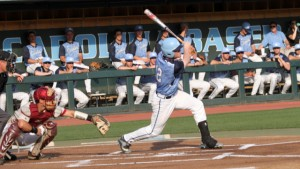 Landon Lassiter had an RBI single in the second, and went 2-x for the game. (UNC Athletics)