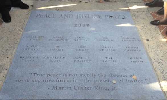 Dean Smith and Bill Thorpe Added to Social Justice Memorial