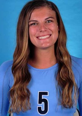 UNC Volleyball Player Named Academic All-America for 1st Time
