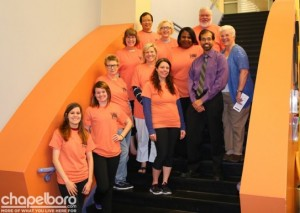 Denise Qualls-Allen (3rd row from the top in the middle) and the Durham Orange County Medical Society Team.