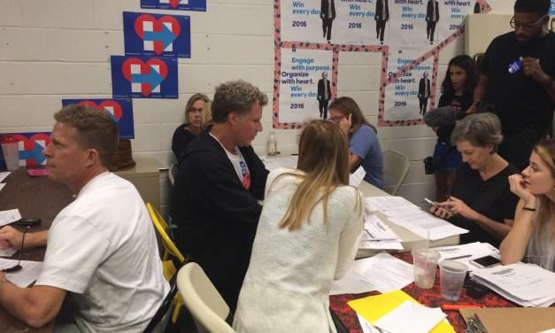Will Ferrell Campaigns For Clinton In Carrboro