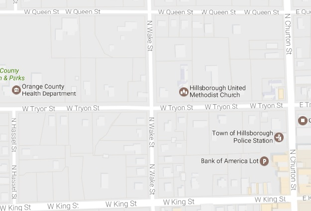 Construction Closing Portion of Downtown Hillsborough Road