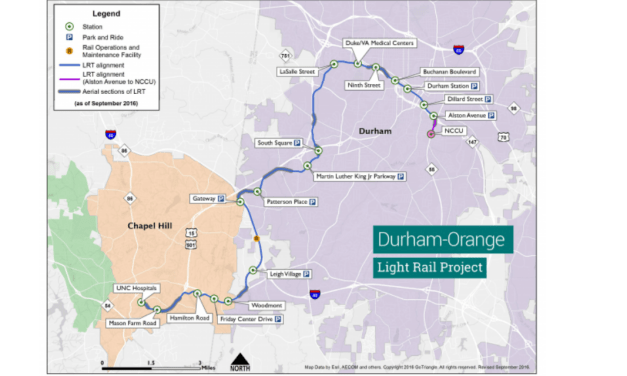 Budget Corrections Bill Would Allow Durham-Orange Light Rail to Move Forward
