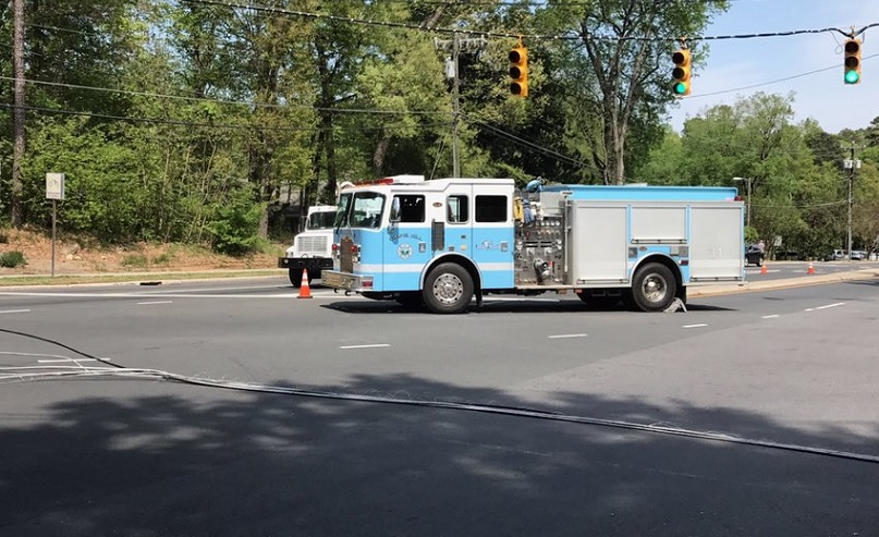 Road Reopened After Downed Power Lines Near UNC