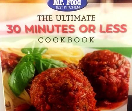 Win a Mr. Food Test Kitchen Cookbook!