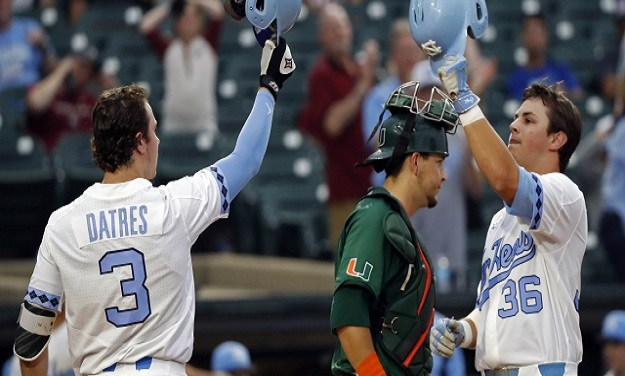 Tar Heels Blow Out Miami, Advance to ACC Baseball Championship Game