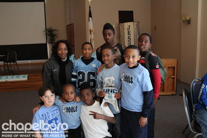 (Group of children before the Maryland Football game that are participating in the pregame breakfast provided by donation to Kids2Carolina program that promotes academic success as well as character and being a good citizen) - See more at: http://chapelboro.com/Non-Profit-Spotlight-by-Brian-Chacos/14881977#sthash.Z2wWqWdE.dpuf