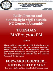 NAACP Protest Flyer