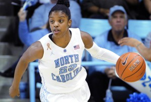 Diamond Deshields (Courtesy of GoHeels.com)