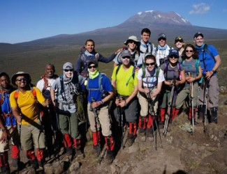 Team Climbs Mt. Kilimanjaro for UNC Global Health