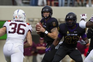 The ECU Pirates knocked off No. 17 Virginia Tech last Saturday. (ECU Athletics)