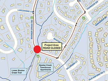 Parts of Booker Creek Road Closed