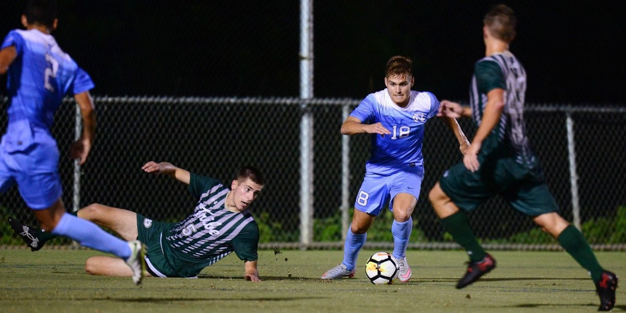 Winn Scores Twice, Leads UNC Men's Soccer to Victory Over William & Mary