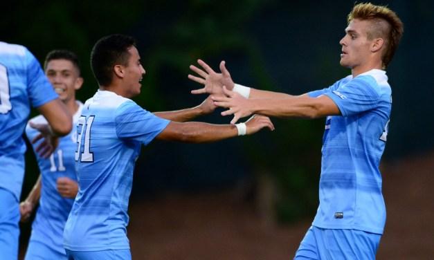 UNC Men's Soccer Closes Regular Season With 3-0 Shutout Win Over No. 16 Notre Dame