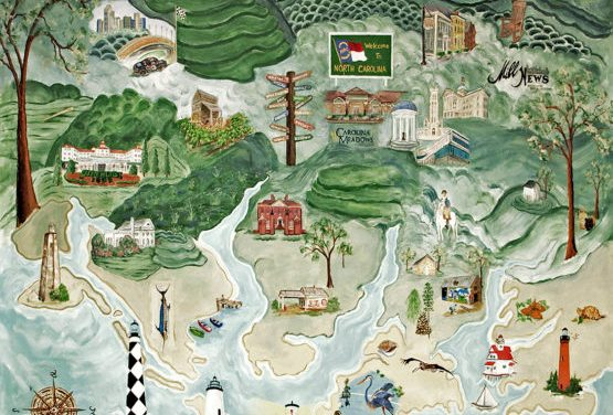 Mural of North Carolina Painted by Carolina Meadows Artists Made Into Puzzle