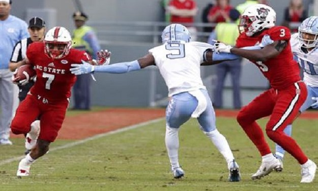Hines Helps NC State Run Past UNC in Tar Heel Football Season Finale
