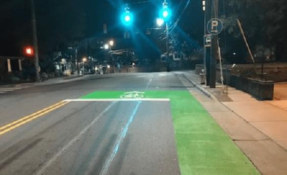 Chapel Hill Gets First 'Bike Box'
