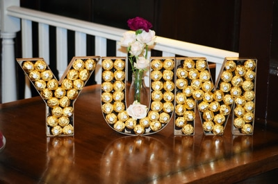 Ferrero Rocher wedding idea.