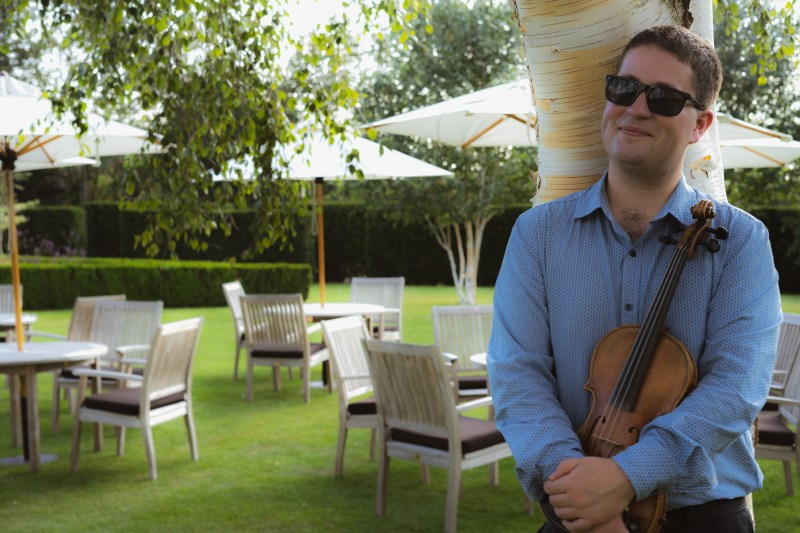 violinist at Bedford lodge hotel.