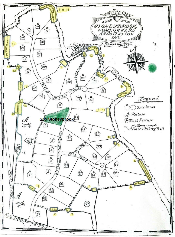Stoneybrook map Chapel Hill NC