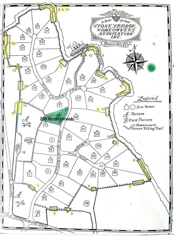 Stoneybrook map, Chapel Hill, NC
