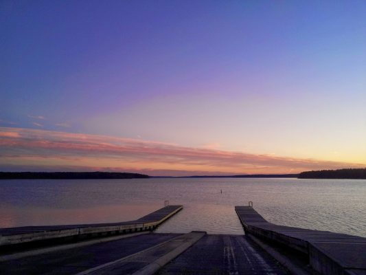 One of 7 Jordan Lake Boat Ramps