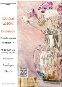 Carole Giboni du 8 au 10juin 2018