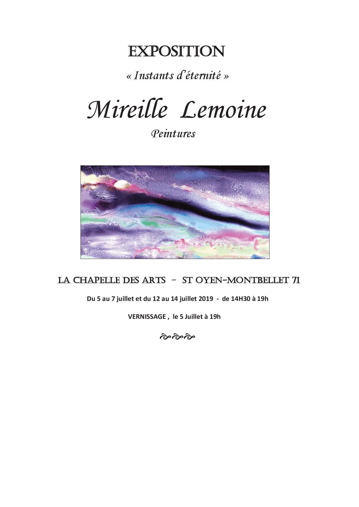 """Exposition """"Instants d'été"""" par Mireille Lemoine"""