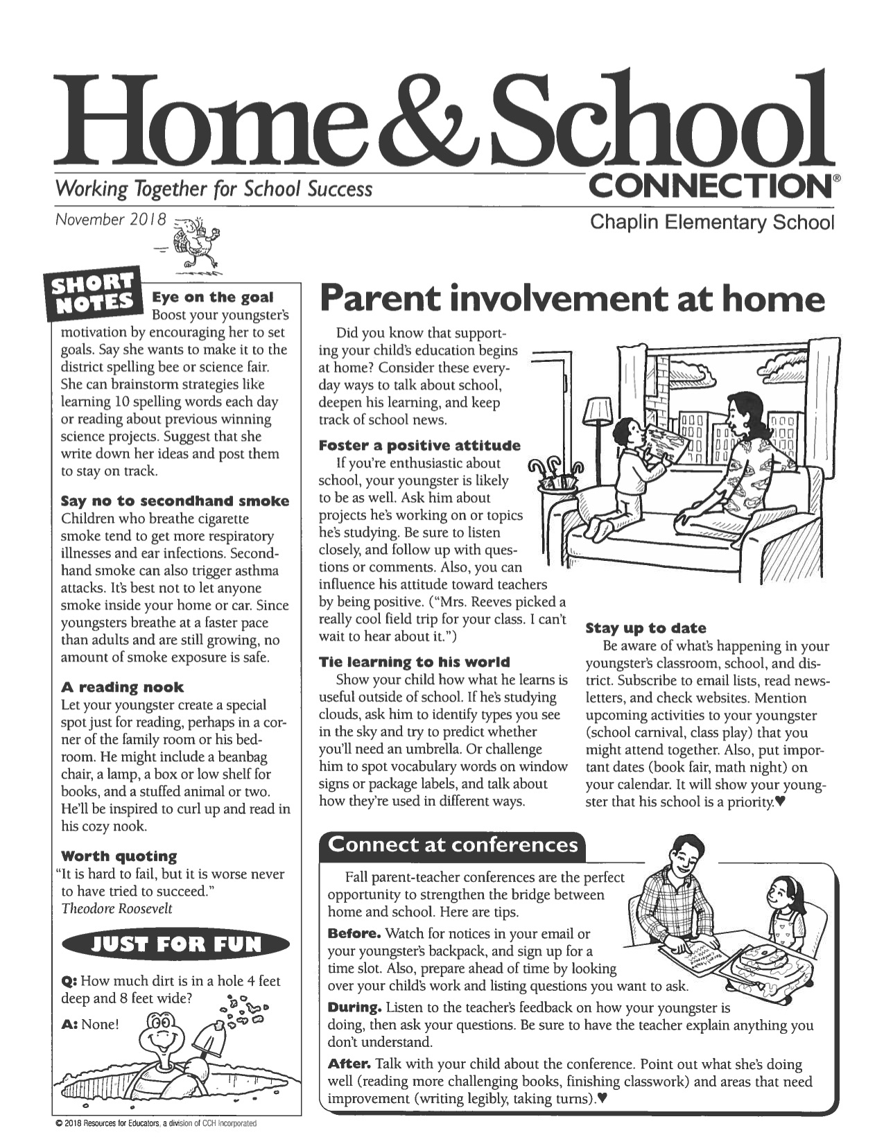 November, 2018 Home and School Connection
