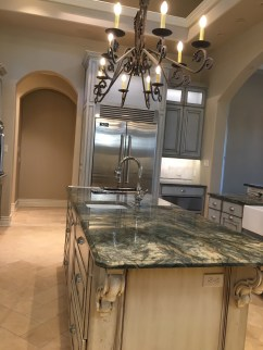 Painted kitchen with glazing