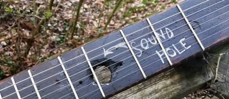 About every guitar needs a sound hole and this one came natural.