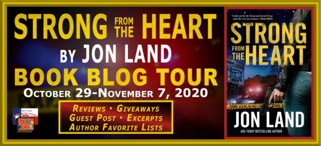 Strong from the Heart book blog tour promotion banner