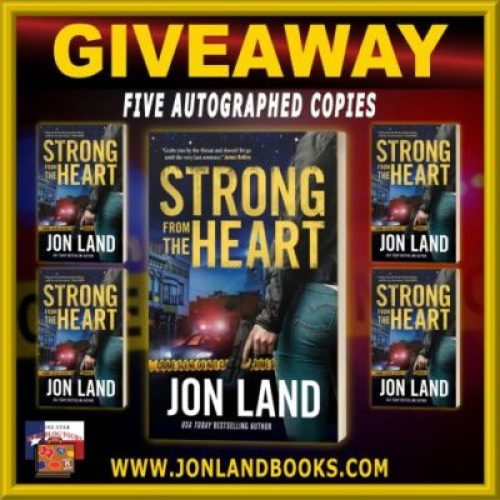 Strong from the Heart tour giveaway graphic. Prizes to be awarded precede this image in the post text.