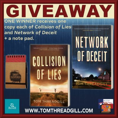 Network of Deceit tour giveaway graphic. Prizes to be awarded precede this image in the post text.