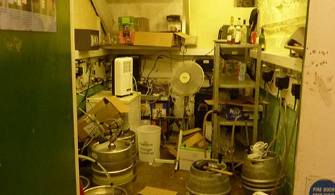 The cellar! Our top priority is to get this baby sparkling clean and organised