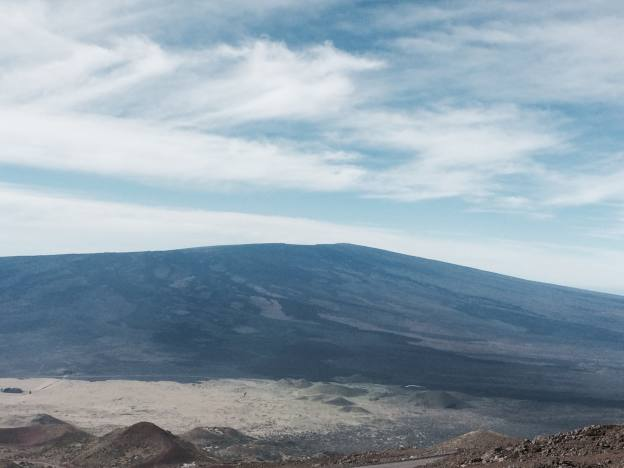 View of Mauna Loa from the summit of  Mauna Kea