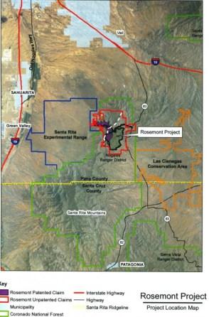 Rosemont Mine Map