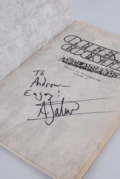 Queen & Country - First Page - Signed - Book
