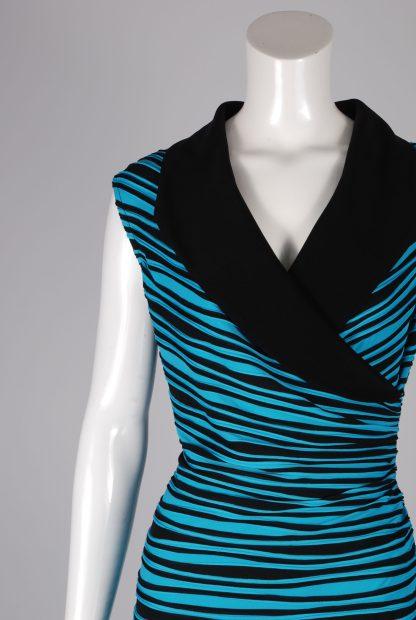 Joseph Ribkoff Striped Dress - Size 14 - Front Detail