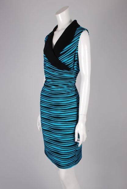 Joseph Ribkoff Striped Dress - Size 14 - Side