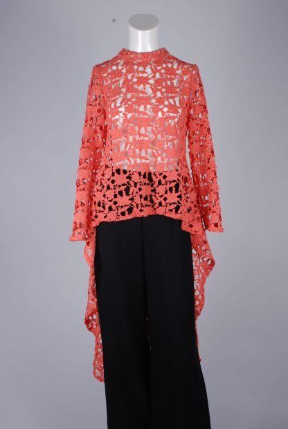 Stella Coral Lace Top - Size 8 - Front