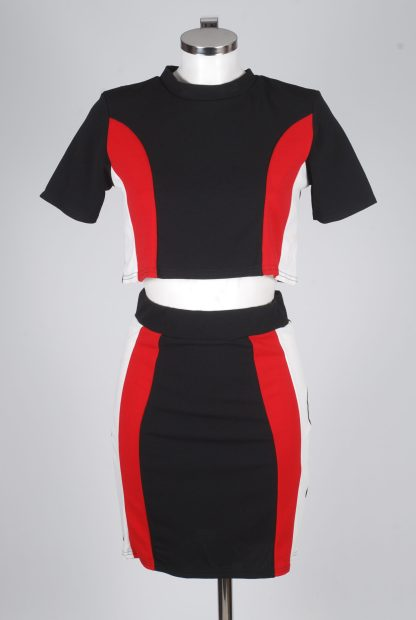 Boohoo Panelled Co-Ord Set - Size 10 - Mannequin