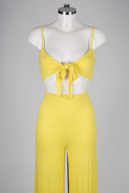 Yellow Jersey Co-Ord Set - Size 10 - Mannequin Detail
