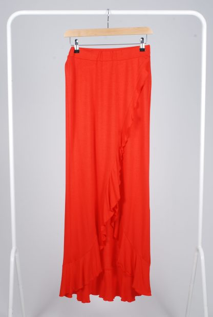 Boohoo Red Jersey Co-Ord Set - Size 10 - Skirt