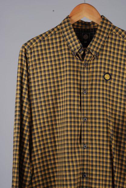 Pretty Green Yellow Check Shirt - Size M - Front Detail