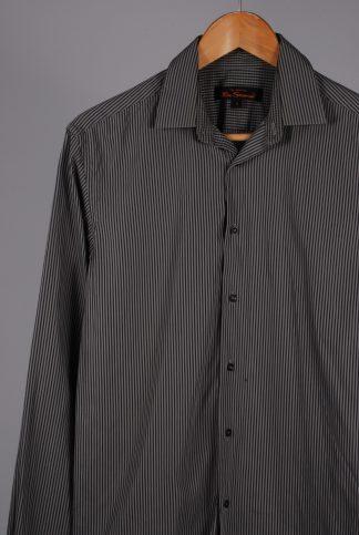 Ben Sherman Grey Striped Shirt - Size S - Front Detail