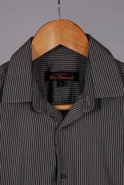 Ben Sherman Grey Striped Shirt - Size S - Label