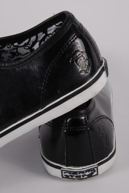Nanny State Black & Grey Trainers - Size 4 - Heel Detail