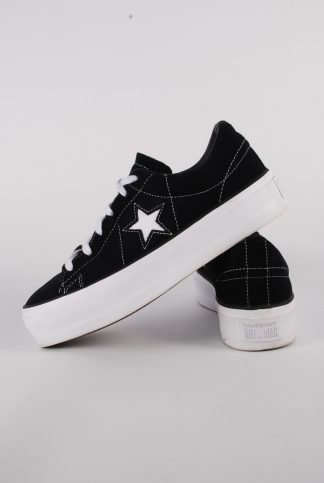 Converse One Star Platform Trainers - Size 7 - Side